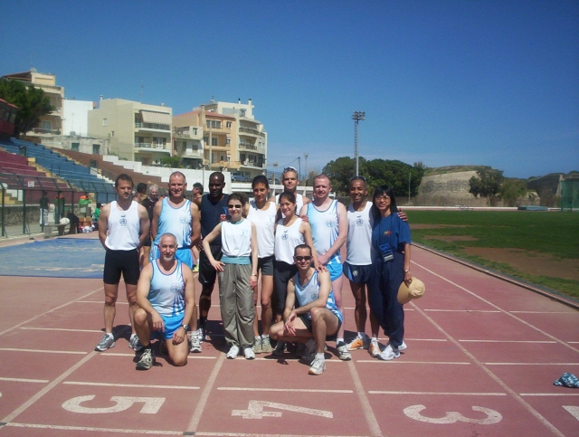 WHO Athletics Team at the UN Inter Agency Games, Crete, April 2005